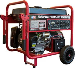 All Power America dual fuel generator