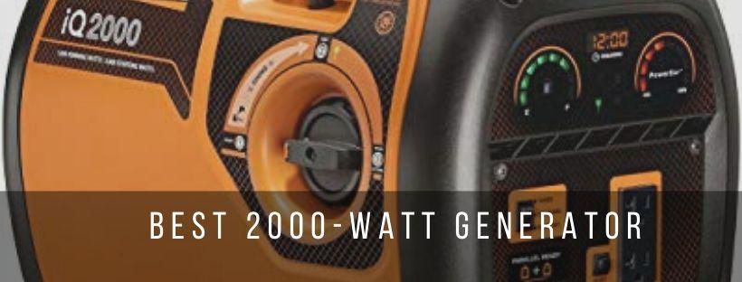 Top 7 best 2000-watt portable generators