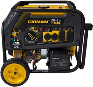 Firman H05751 portable dual fuel generator