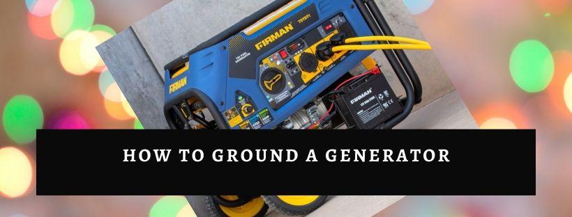 Method of grounding generator