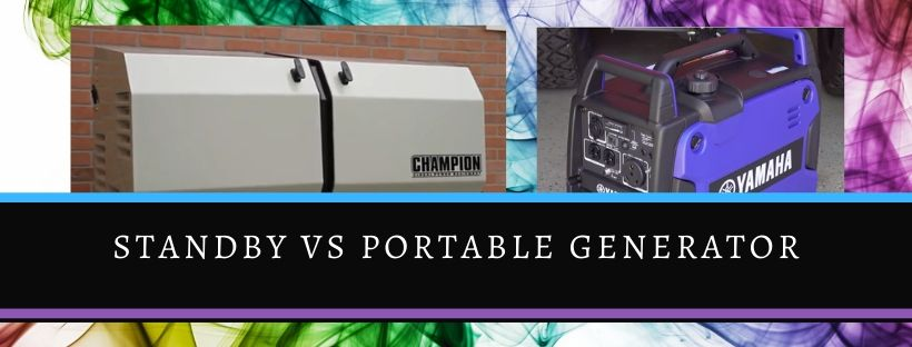 Comparison of standby and portable generator
