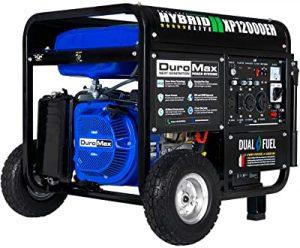 DuroMax XP12000EH 12000-Watt 18 HP Portable Dual Fuel Electric Start Generator