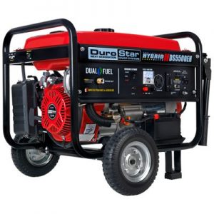 DuroStar 5500-Watt Electric Start Dual Fuel Hybrid Portable Generator