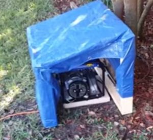 Store portable generator safely