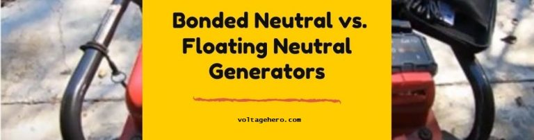 Difference between Bonded and floating neutral generators