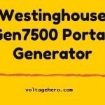 Westinghouse WGen7500 power station with remote electric start system
