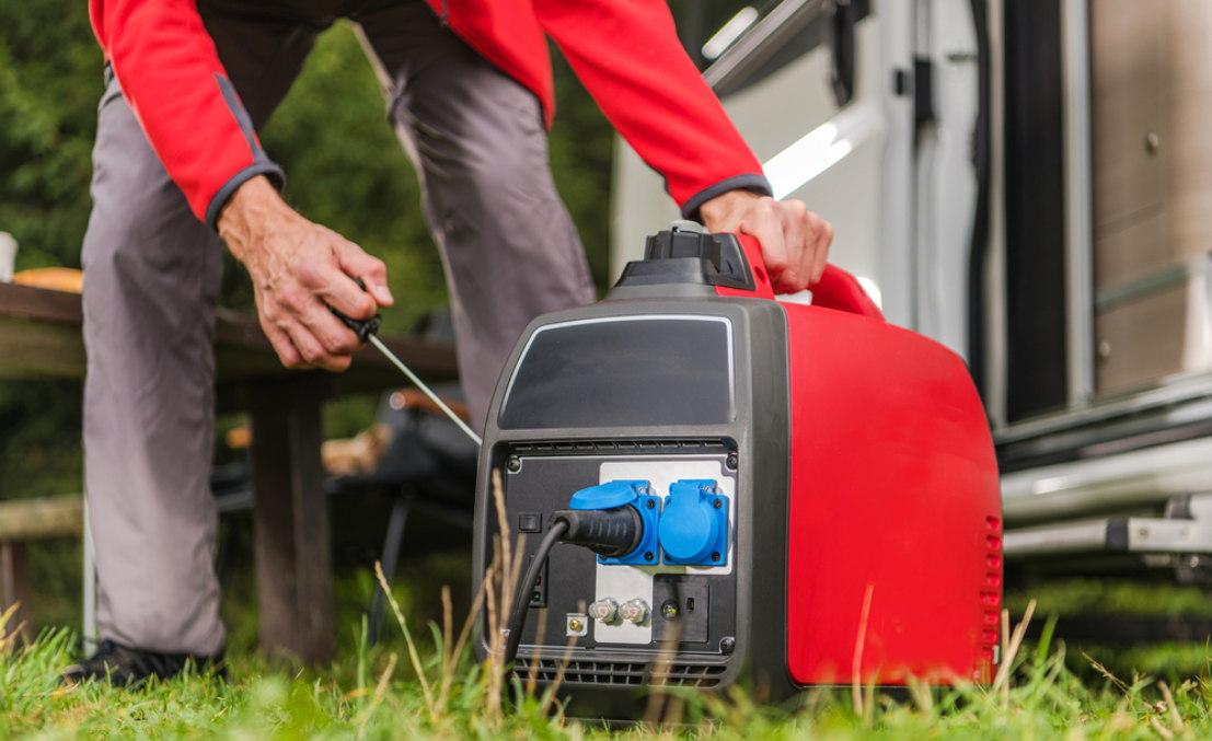 Starting portable generator